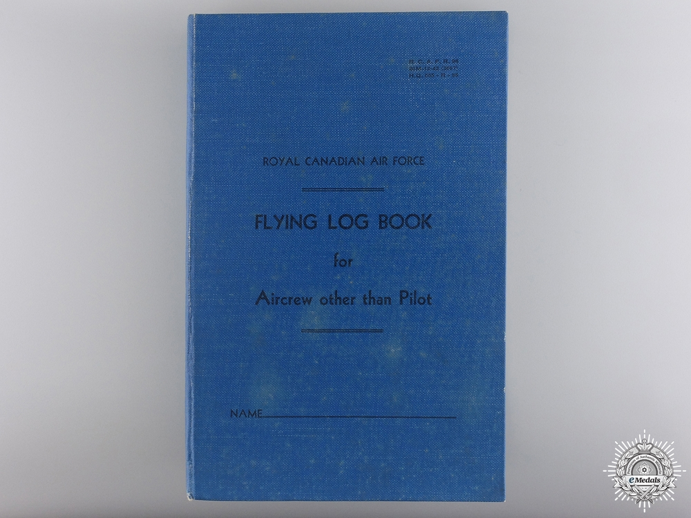 The WWII Pair and Log Book of Sgt. Hamfel RCAF