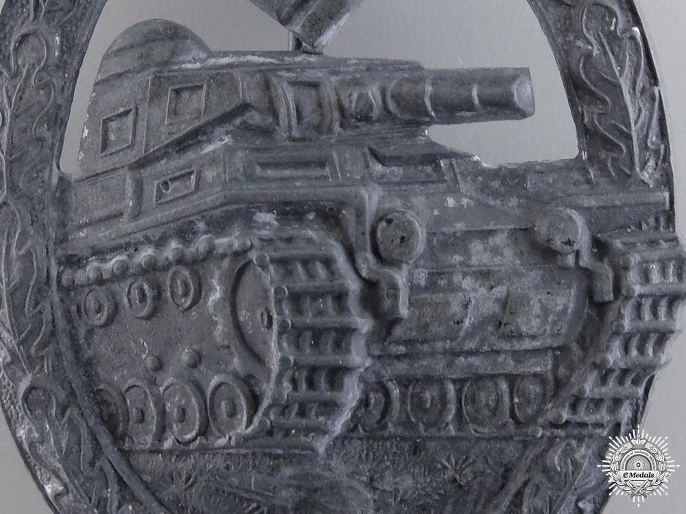 A Silver Grade Tank Badge by Hermann Aurich