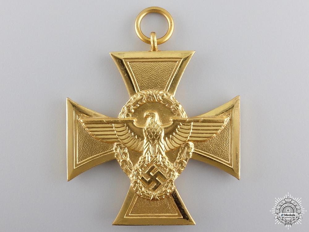 A German Police Long Service Award; First Class