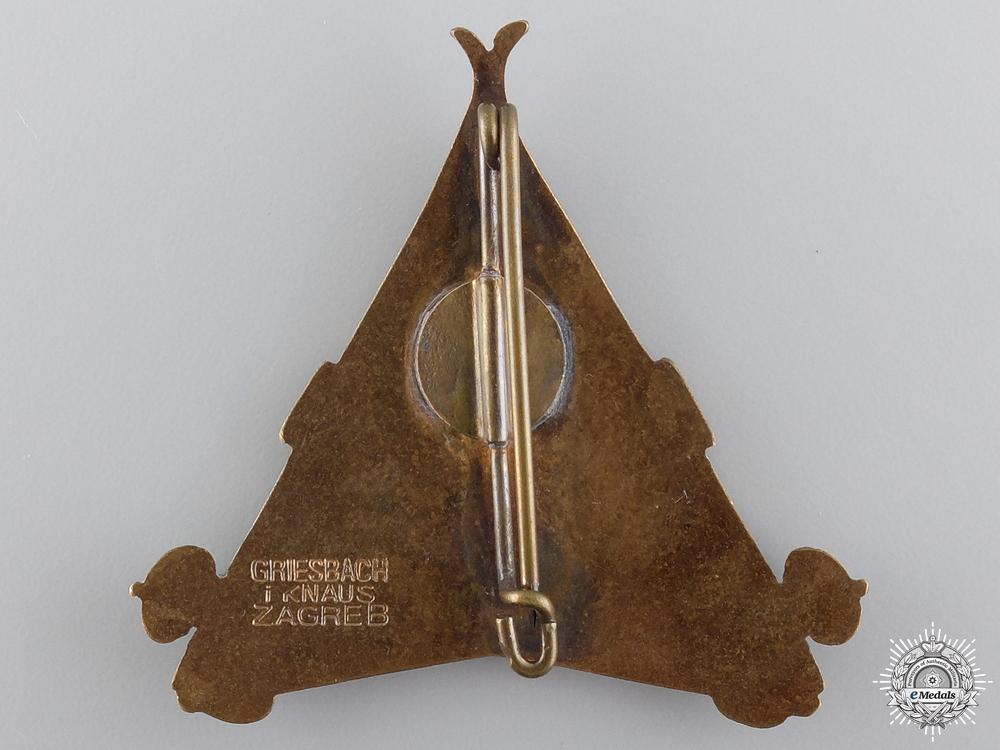 A Yugoslavian Mountain Units Badge 1932 by Knaus, Zagreb