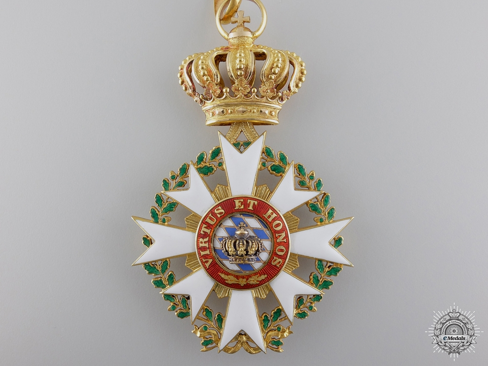 A Rare 1880 Order of the Bavarian Crown in Gold
