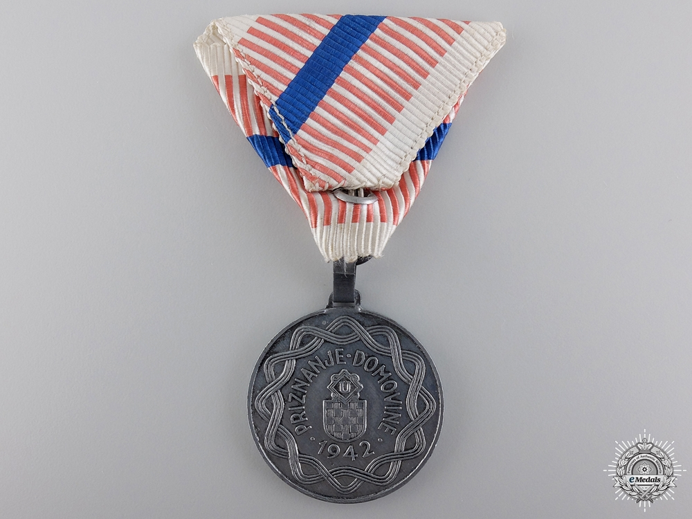 A Croatian Second War Wound Medal
