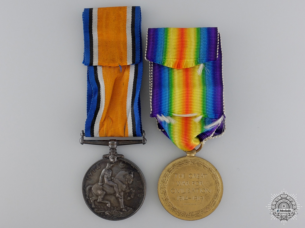 A First War Medal Pair to the Royal Navy Reserve