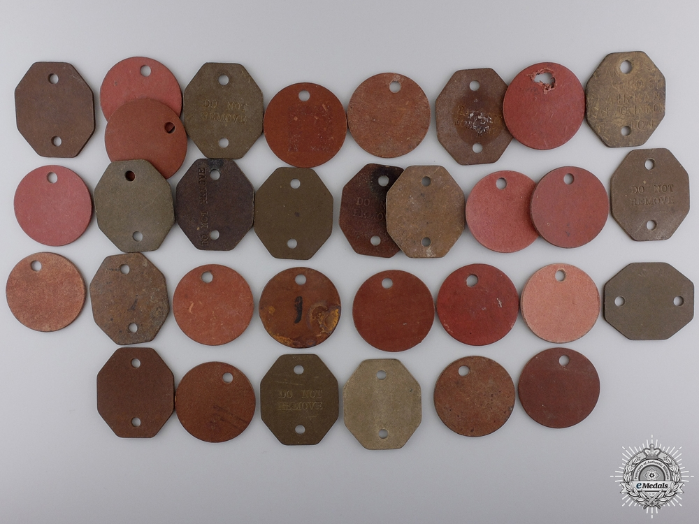 A Collection of Canadian Second War Identity Discs