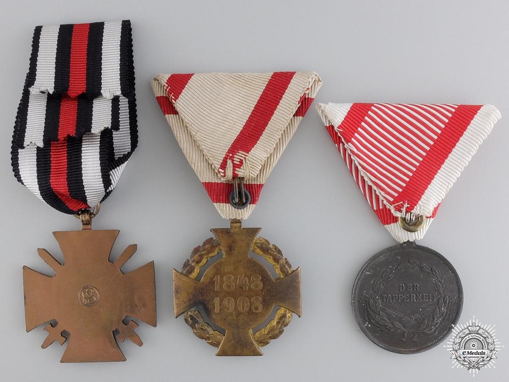 Three First War German and Austrian Medals
