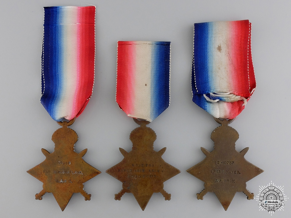 Three First War British 1914-15 Campaign Stars