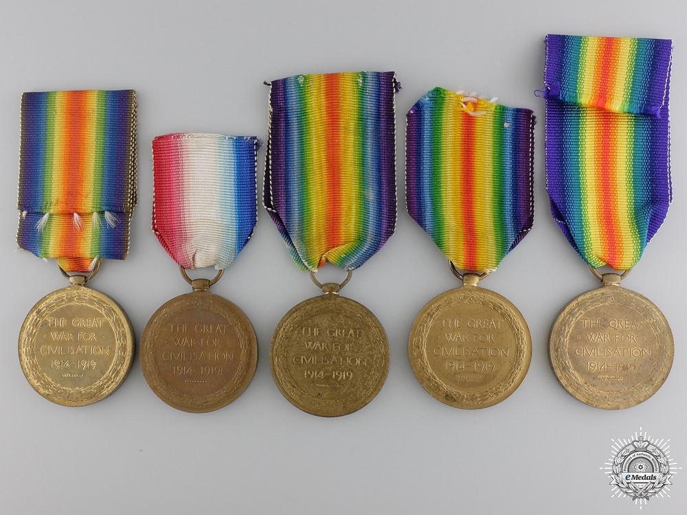 Four First War British Victory Medals