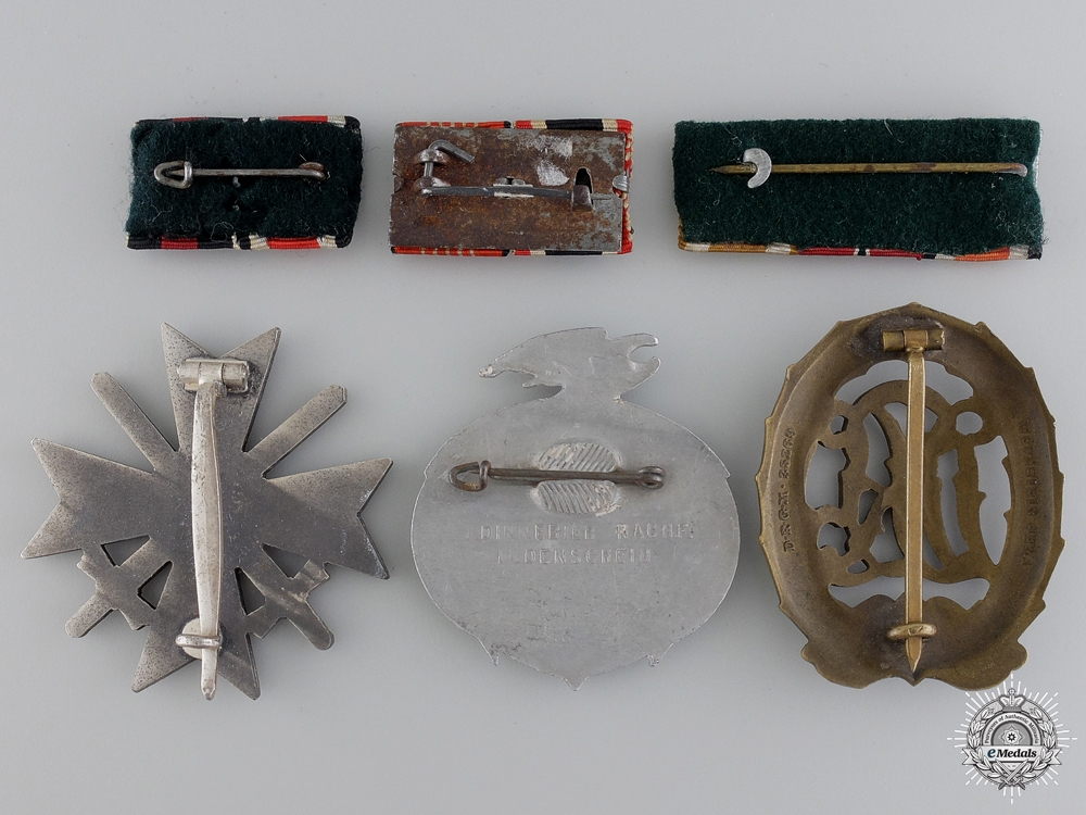 Six Second War German Awards, Badges, and Ribbons