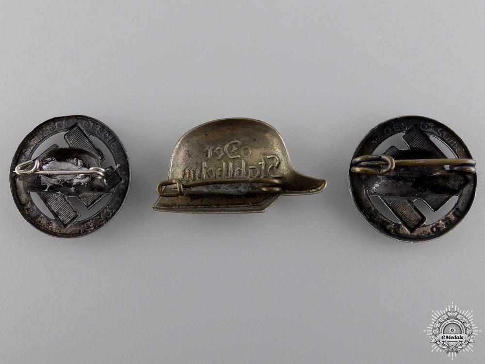 Three Second War Period Stalhelm Badges