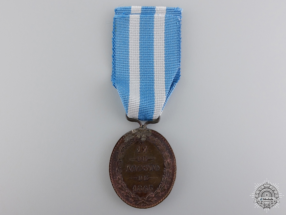 A Rare 1865 Yatay Medal; Marked JW