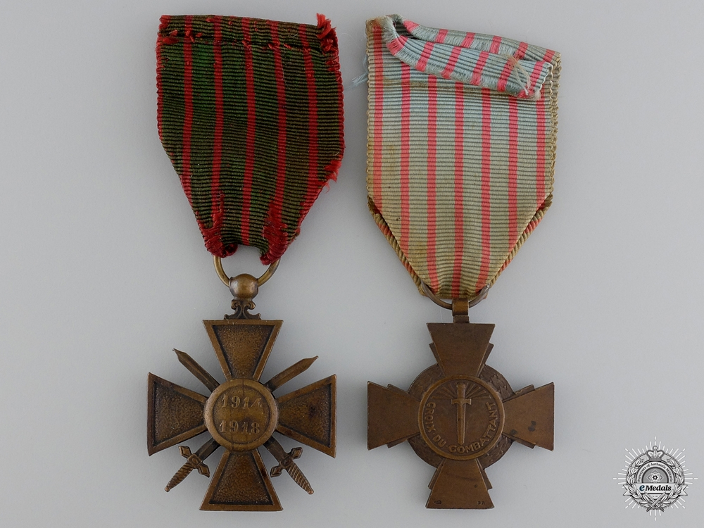 Two First War French Medals and Awards