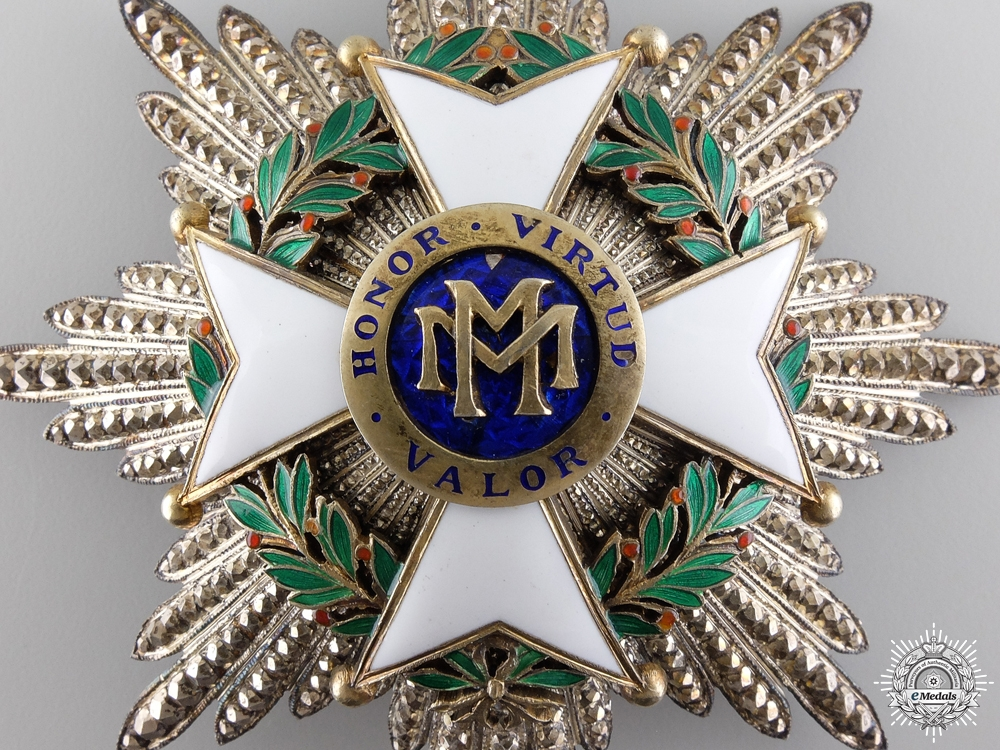 A Cuban Order of Military Merit; Breast Star, Second Class