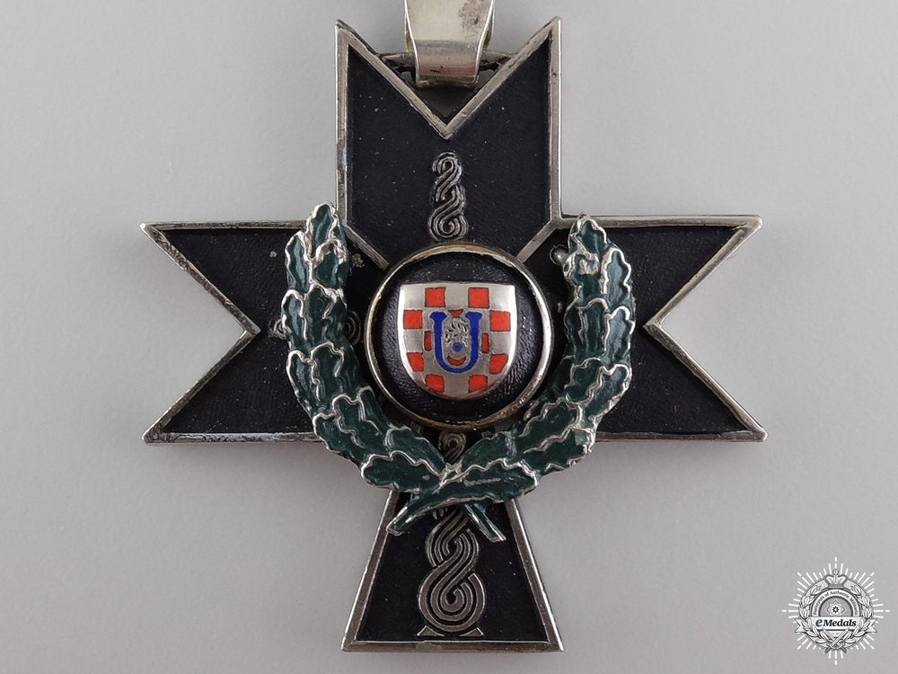 A Croatian Order of Iron Trefoil with Oakleaves