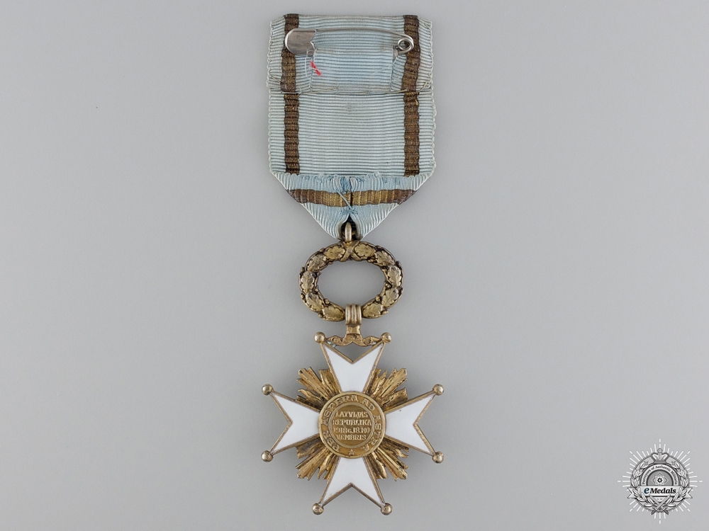 Latvia. An Order of the Three Stars, Fifth Class Knight's Cross, c.1940
