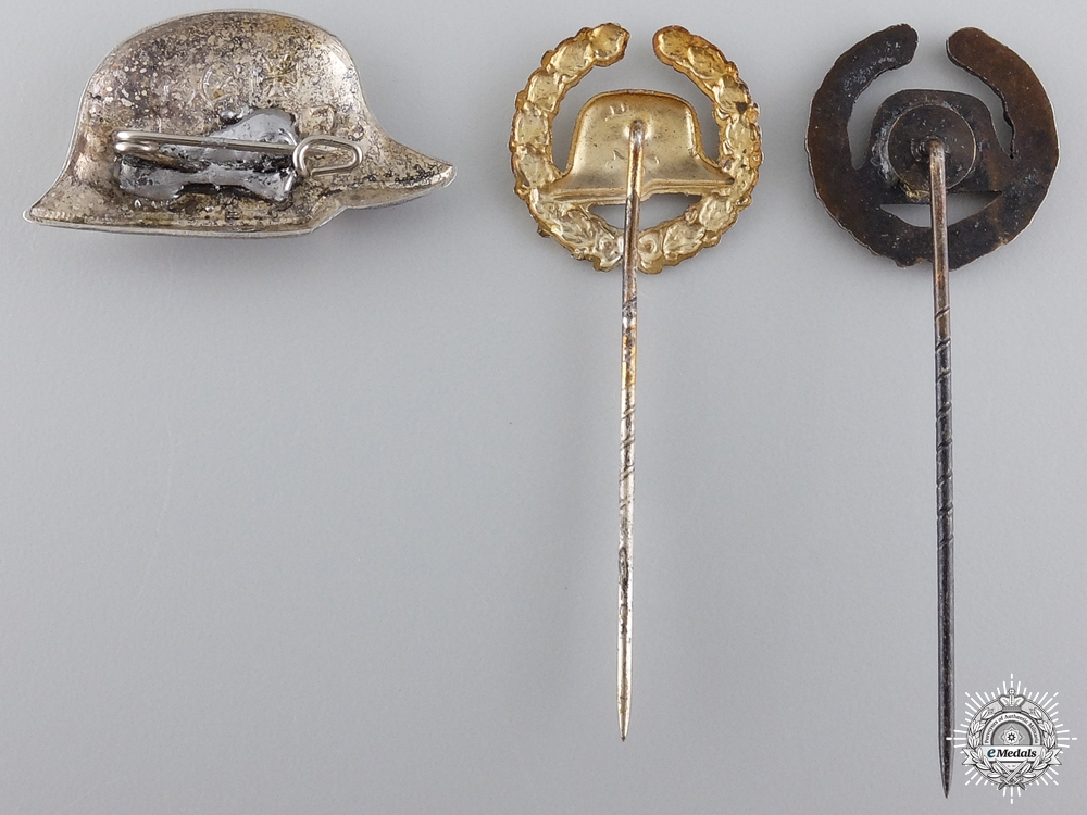 Three Stahlhelm Veteran's Association Badge and Stickpins