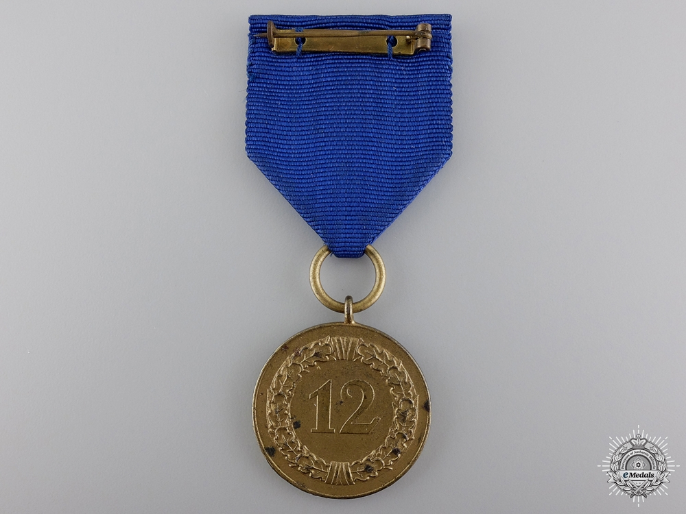 An Army Long Service Medal for 12 Years