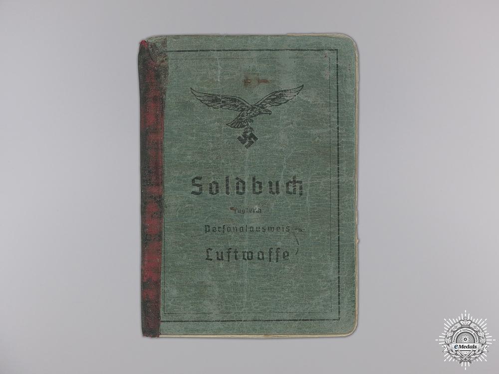 A Luftwaffe Soldbuch & Anti-Partisan Document to Fallschirmjäger