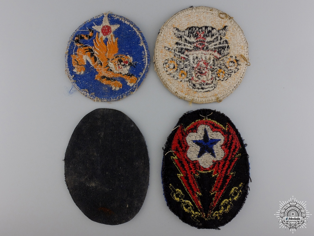 Four Second War American Division Patches