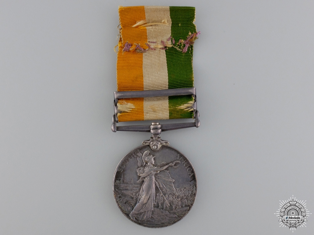 United Kingdom. A King's South Africa Medal to the Queen's Regiment