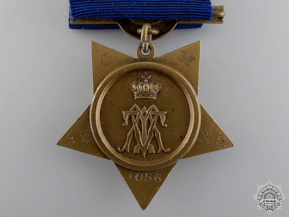 United Kingdom. An 1882 Khedive's Star, 3rd King's Royal Rifles