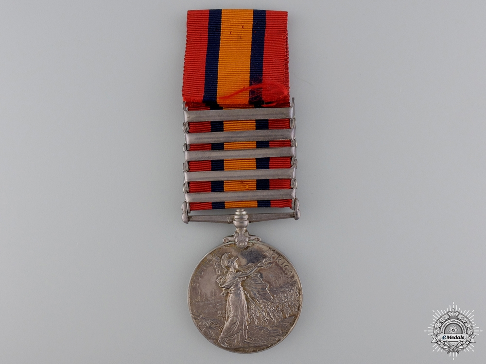 A Queen's South Africa Medal to the South Lancashire Regiment