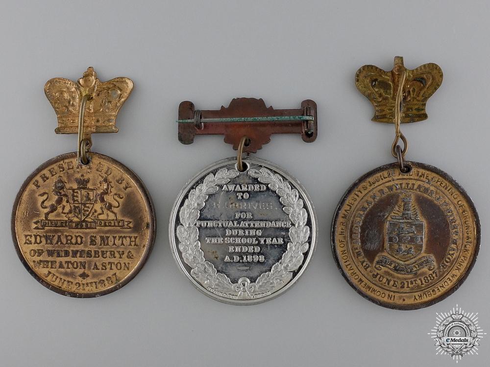 Three Queen Victoria Jubilee Medals