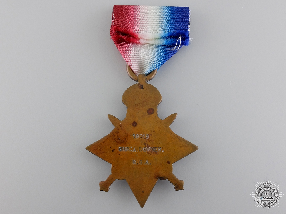 A First War 1914 Mons Star to the Royal Garrison Artillery