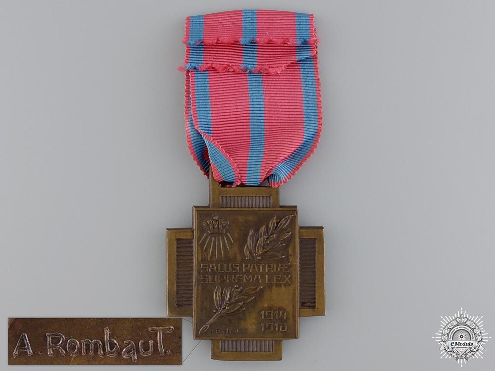 A Belgian Fire Cross 1914-1919; Type I