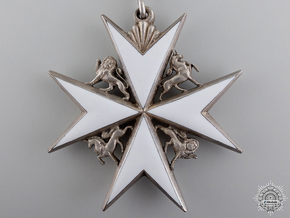 An Order of St. John; Commander's Neck Badge