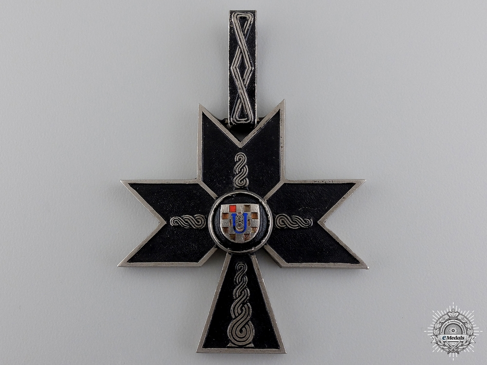 A Croatian Order of the Iron Trefoil; First Class Commander