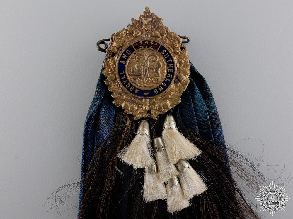 A Second War Argyll & Sutherland Highlanders Badge