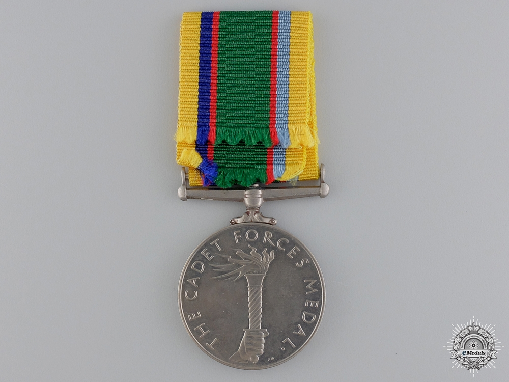 A Cadet Forces Medal to Flying Officer R.R. Rowley