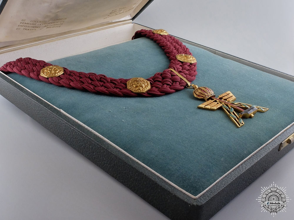 A Belgian National Exhibition of Work Dean's Honourary Labour Neck Chain