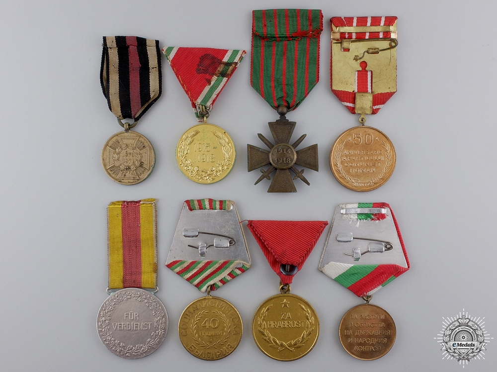 Eight European Medals and Awards
