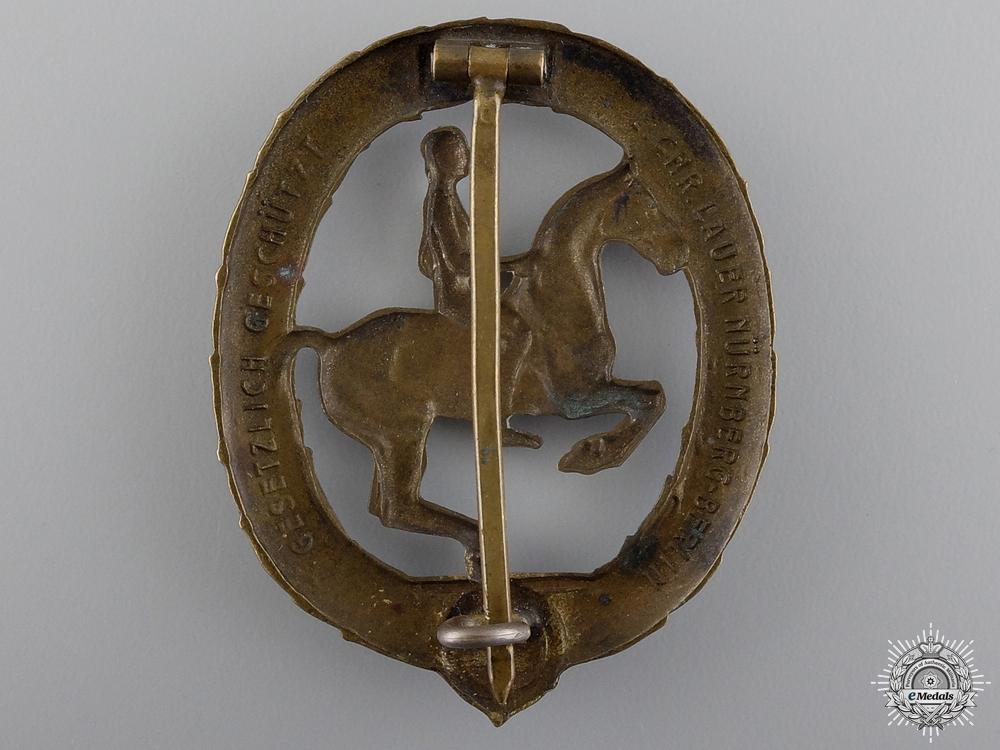 A Bronze Grade German Horseman's Badge by L.CHR.Lauer