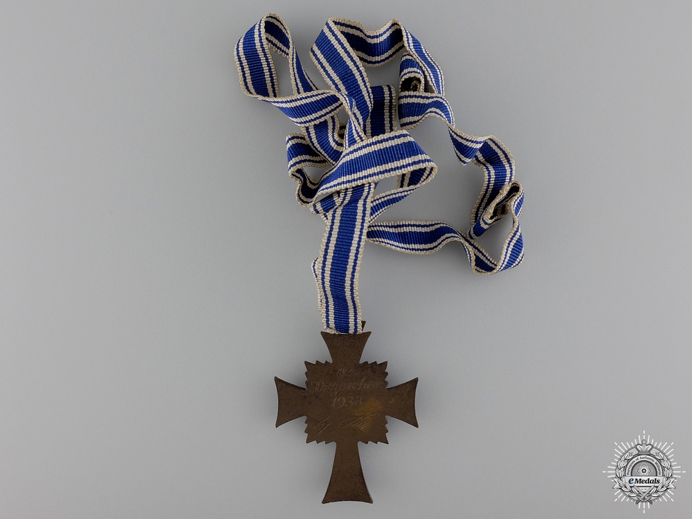 A German Mother's Cross; Bronze Grade