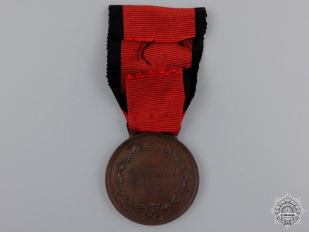 A 1915 Avezzano Earthquake Relief Medal