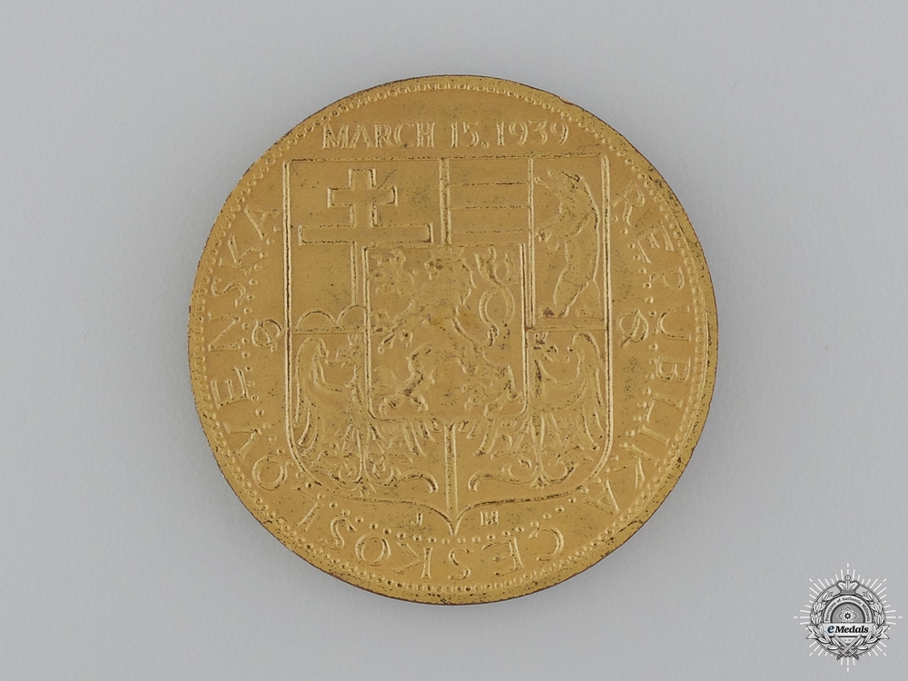 A Czechoslovakian Anti-German Occupation Medal