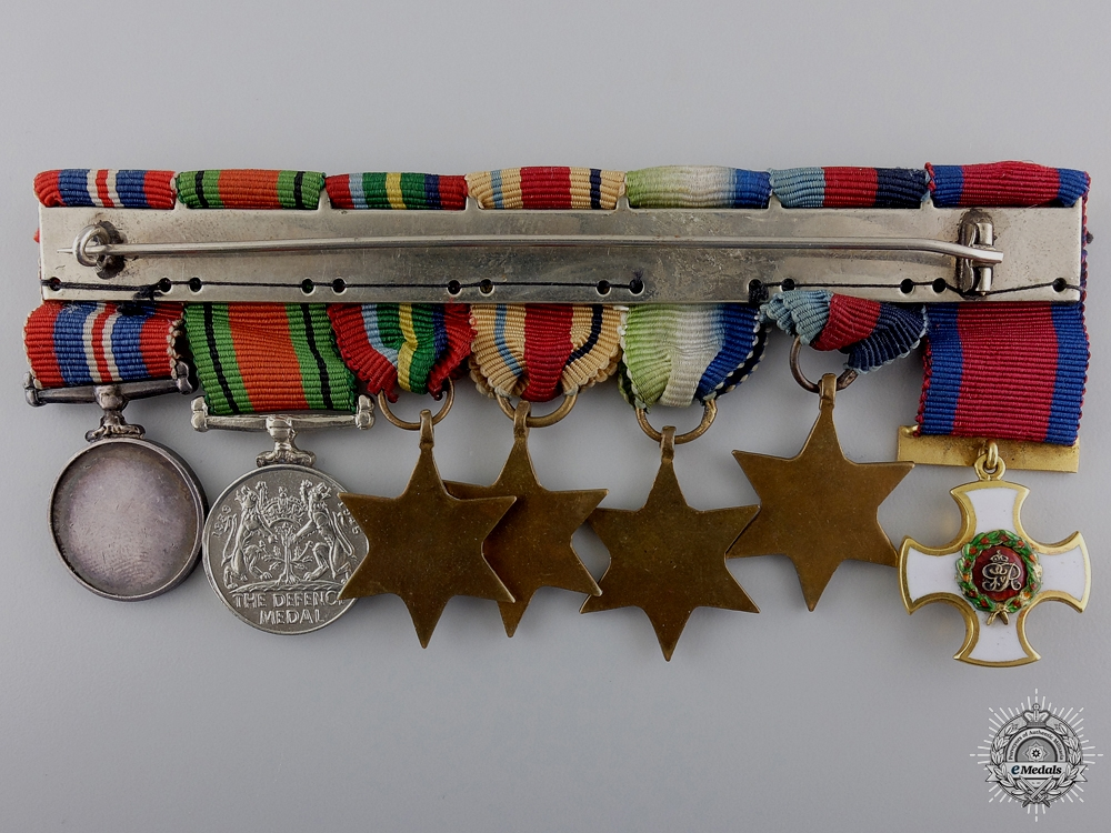 A Second War Gold D.S.O. Miniature Group with MID