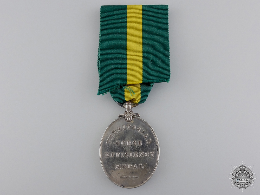 A Territorial Force Efficiency Medal to the Royal Scots