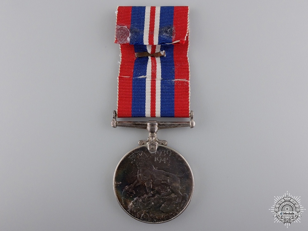 A Second War Canadian Issue War Medal with MID