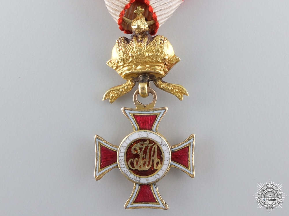 An Austrian Order of Leopold; 1830's Reduced Version in Gold
