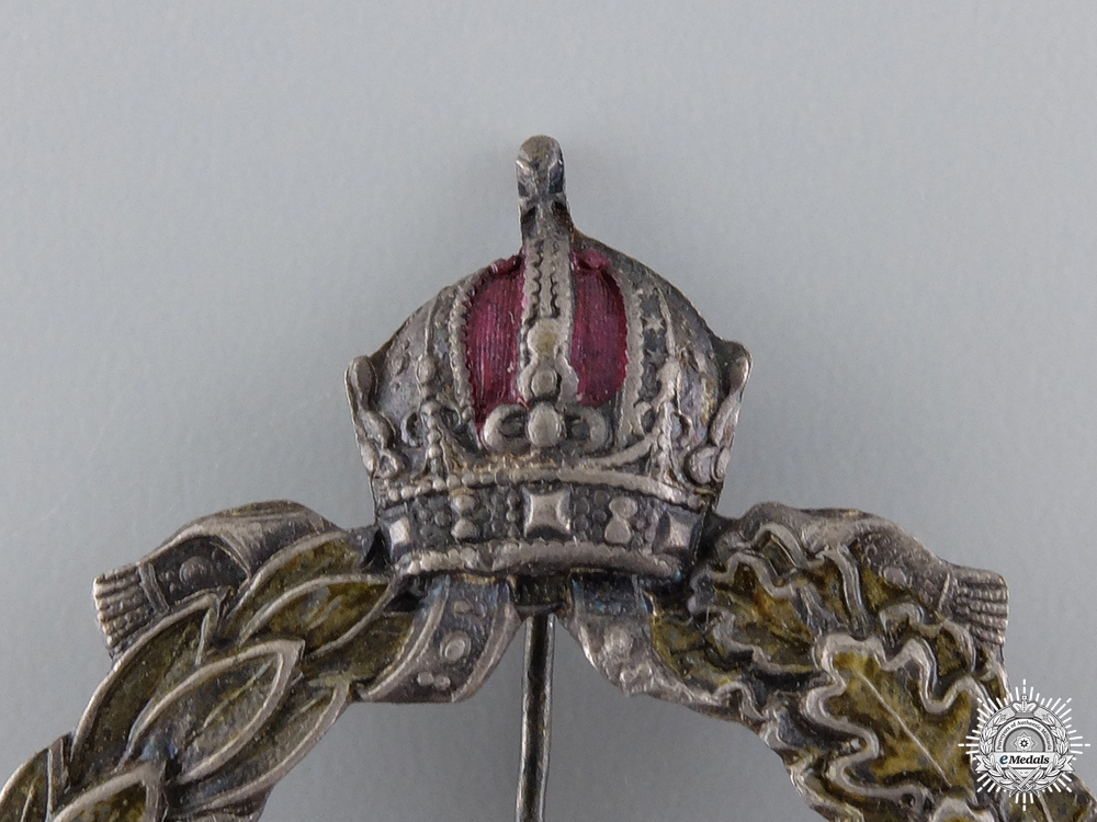 A Rare First War Austrian Sturmbattalion 13 Badge by Pramer, Wien