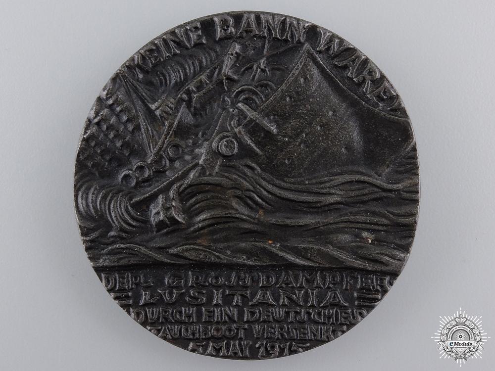 A First War RMS Lusitania Propaganda Medal