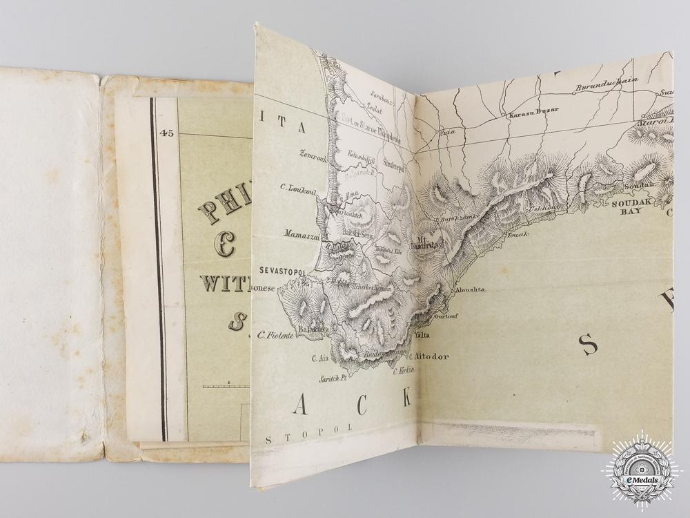 A Rare 1854 Philips' New Map of the Crimea