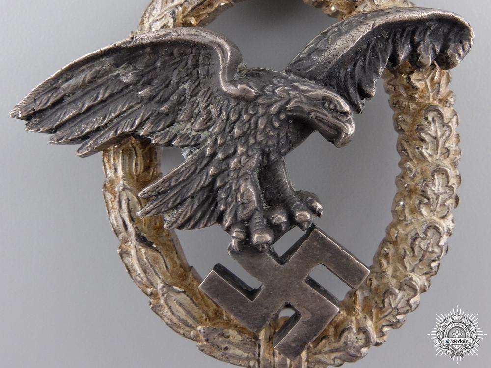 An Early War Luftwaffe Observer's Badge by C.E.Juncker