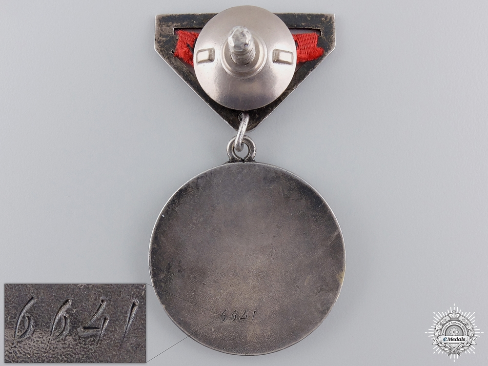 A Second War Mongolian Honorary Medal for Combat
