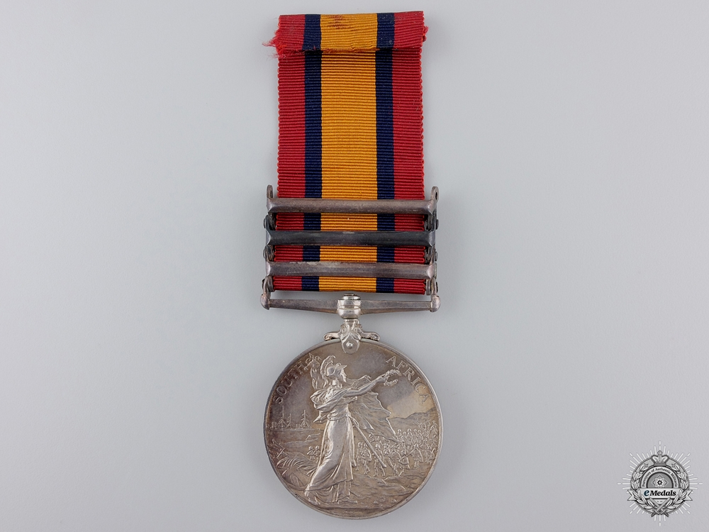 United Kingdom. A Queen's South Africa Medal to the Lancashire Fusiliers
