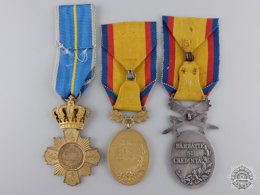Three Romanian Medals & Awards