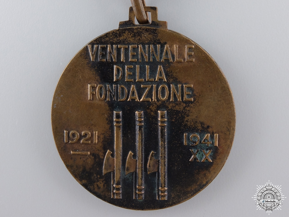 A Second War Italian Timekeepers Medal 1921-41